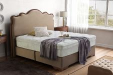 CROWN Boxspringbett THE GLORIOUS DELUXE, hohe Taschenfederkern Matratze, inkl. Topper, z.B. Beige, 160x200/180x200/200x200