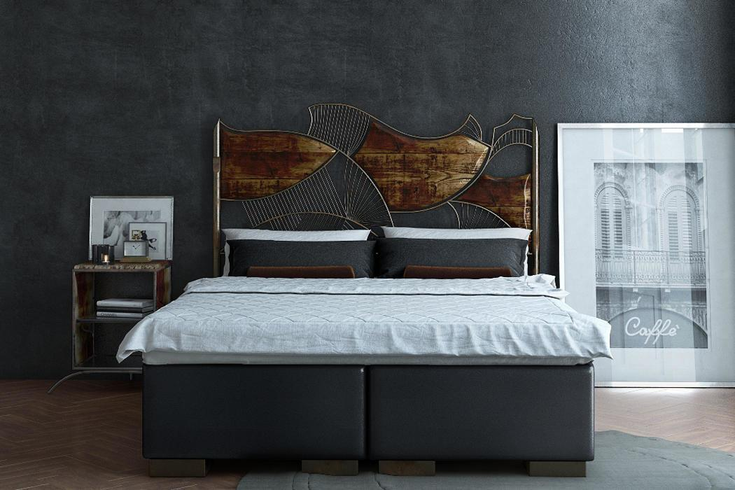 Boxspringbett Industrial Design Serie