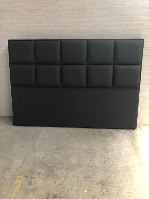 CROWN Boxspringbett BARCELONA DELUXE, hohe Taschenfederkern Matratze, inkl. Topper, Kunstleder Schwarz, 200x200 cm