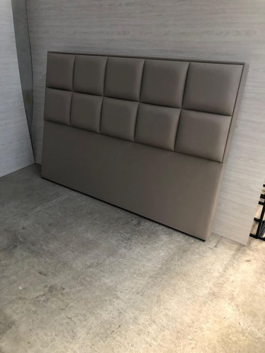 CROWN Boxspringbett BARCELONA DELUXE, hohe Taschenfederkern Matratze, inkl. Topper, Kunstleder Braun, 180x200 cm