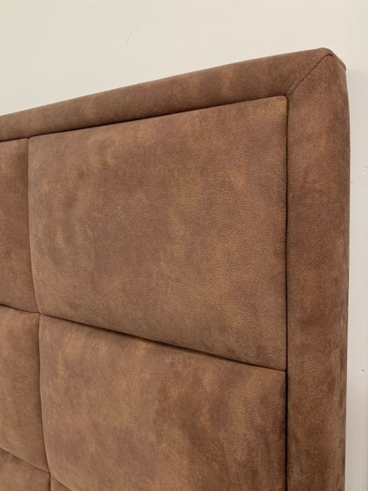 CROWN Boxspringbett QUADRO PLUS DELUXE, hohe Taschenfederkern Matratze, inkl. Topper, Kunstleder Seidenglanz Silber, 180x200 cm