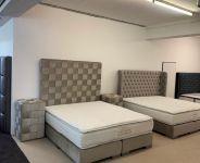 CROWN Boxspringbett BELFAST DELUXE inkl. Bettbank und Nachtkonsolen, Samt Stone